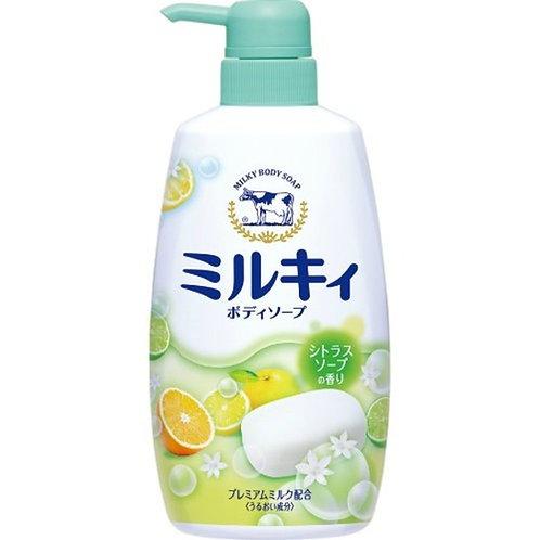 COW MILKY BODY SOAP Yuzu Scented 550ml