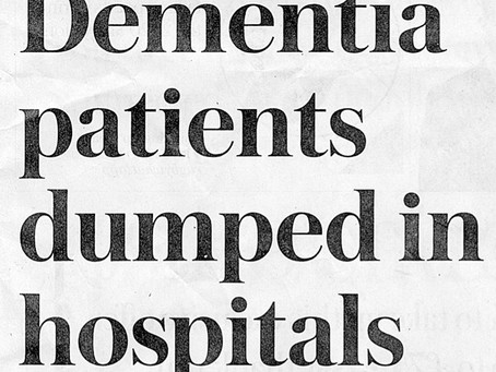 Telegraph Highlights Lack Of Support For Dementia Sufferers