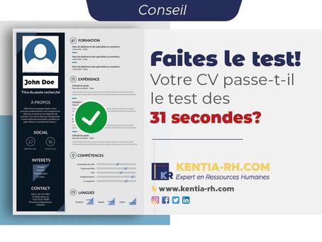 Votre CV passe-t-il le test des 31 secondes ?