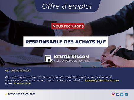 UN RESPONSABLE DES ACHATS H/F
