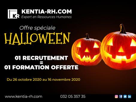 Offre spéciale Halloween : 01 Recrutement=01 Formation offerte