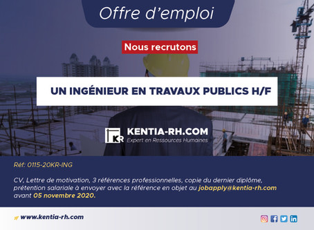 UN INGÉNIEUR EN TRAVAUX PUBLICS H/F
