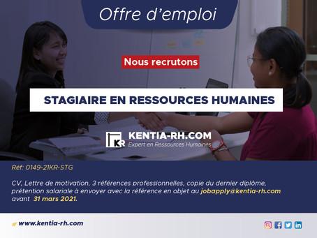 UN(E) STAGIAIRE EN RESSOURCES HUMAINES