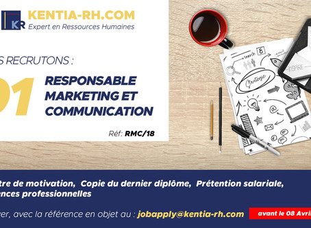 Un(e) Responsable Marketing et Communication