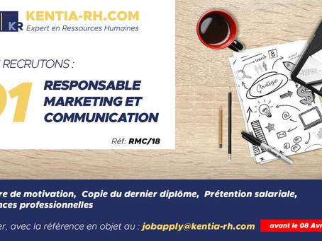 Un(e) Responsable Marketing et Communication