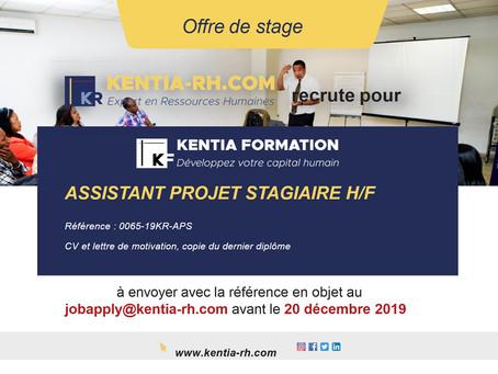 ASSISTANT DE PROJET STAGIAIRE H/F