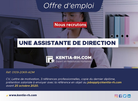 UNE ASSISTANTE DE DIRECTION