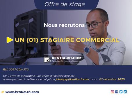 UN (01) STAGIAIRE COMMERCIAL