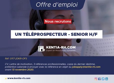 UN TÉLÉPROSPECTEUR-SENIOR H/F