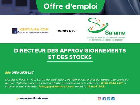DIRECTEUR DES APPROVISIONNEMENTS ET DES STOCKS