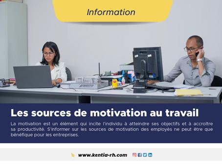 Les sources de motivation au travail