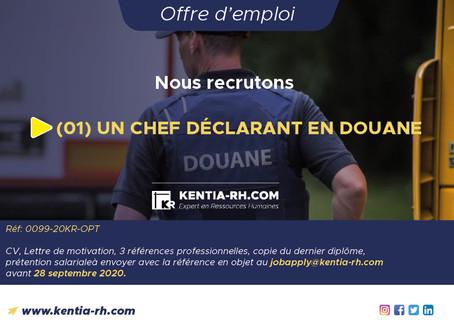 UN(01) CHEF DÉCLARANT EN DOUANE