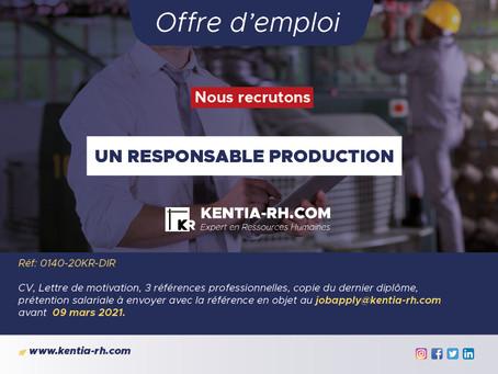 UN RESPONSABLE DE PRODUCTION