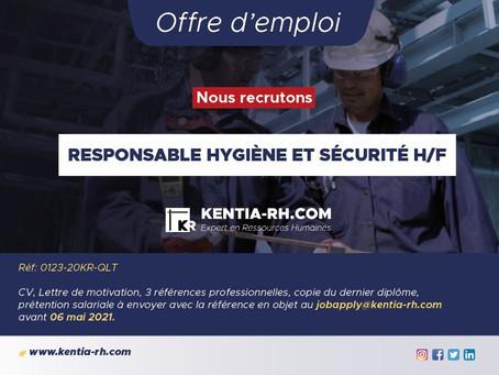 RESPONSABLE HYGIÈNE ET SÉCURITÉ H/F