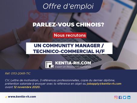 UN COMMUNITY MANAGER / TECHNICO-COMMERCIAL H/F