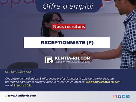 RECEPTIONNISTE (F)
