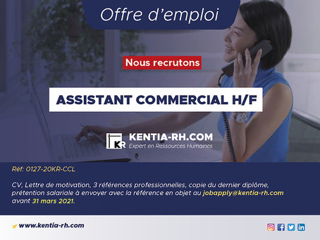 ASSISTANT COMMERCIAL H/F
