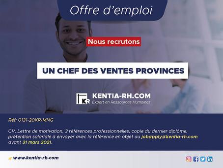 CHEF DES VENTES PROVINCES (CDV)