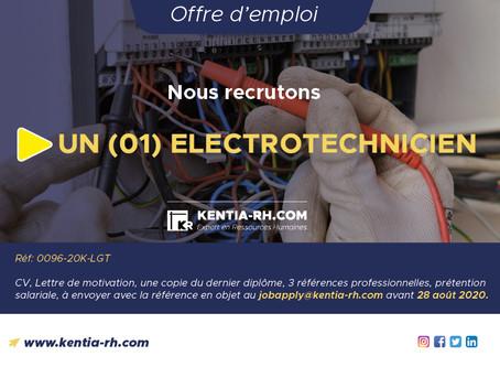 UN (01) ELECTROTECHNICIEN