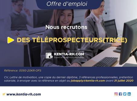 DES TÉLÉPROSPECTEURS(TRICE)
