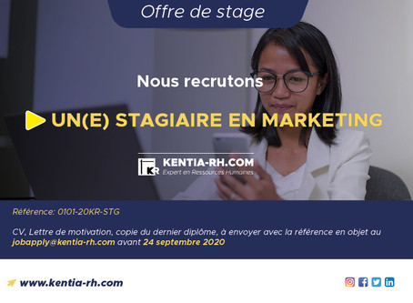 UN(E) STAGIAIRE EN MARKETING