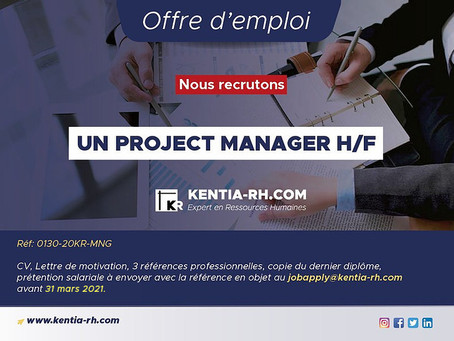 UN PROJECT MANAGER H/F