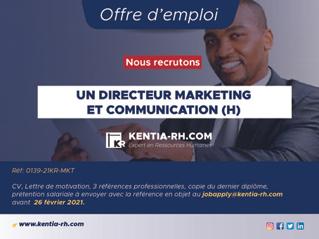 UN DIRECTEUR COMMUNICATION ET MARKETING (H)