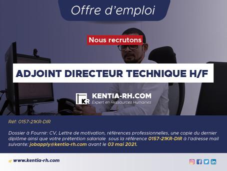 ADJOINT DIRECTEUR TECHNIQUE H/F
