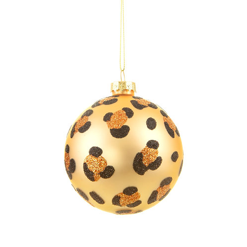 Luxe Gold Leopard Bauble - Set of 3