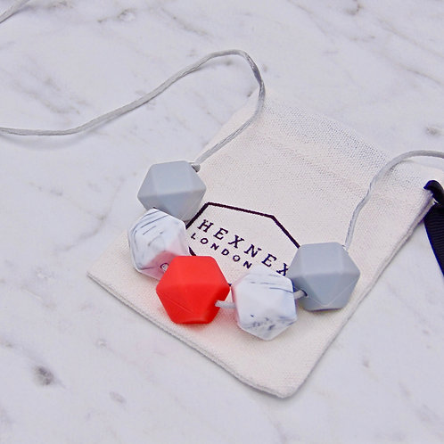 January Birthstone Garnet Teething Necklace