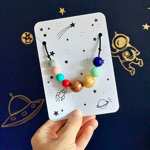Solar System Teething Necklace