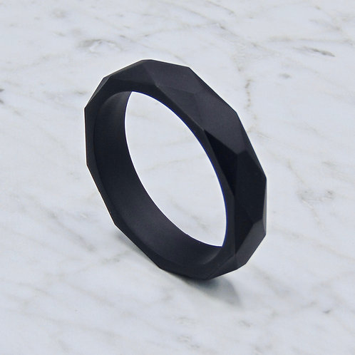 Jet Black Teething Bangle
