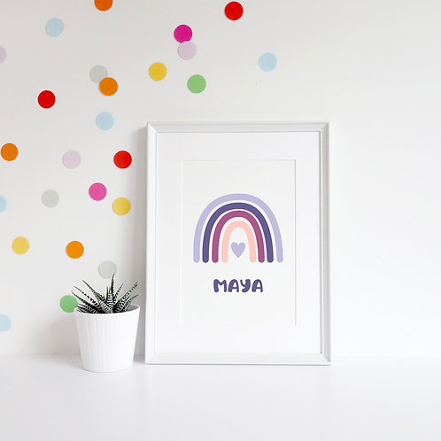 Personalised Rainbow Name A4 Print