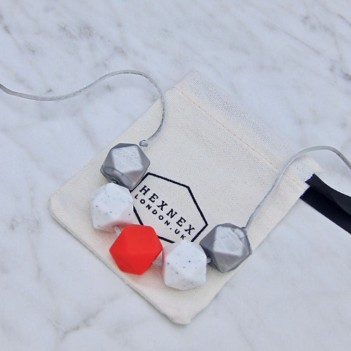 July Birthstone Ruby Teething Necklace