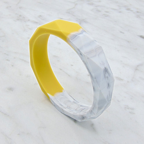 Mustard and Marble Two Tone Teething Bangle