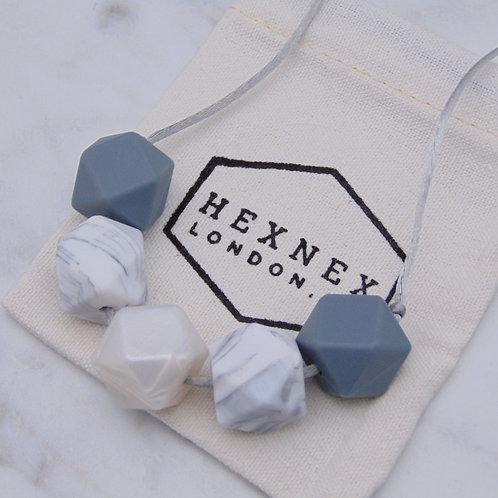 April Birthstone Diamond Teething Necklace