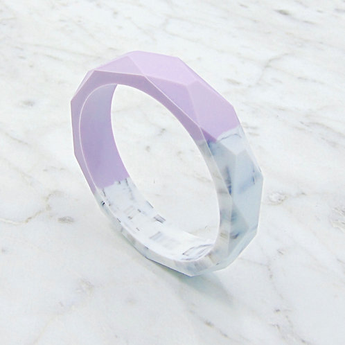 Lavender and Marble Two Tone Teething Bangle