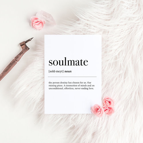 Soulmate Dictionary Definition Greeting Card