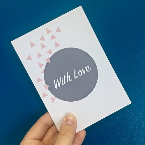 """With Love"" Greeting Card"