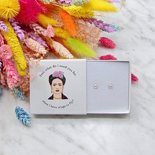 Frida Kahlo - Flower Stud Earring Set