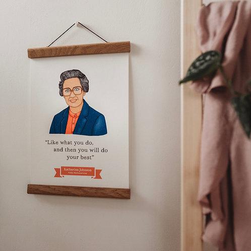 Katherine Johnson - A4 Wall Art Print