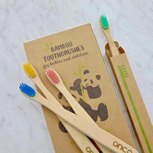 Bamboo Baby Toothbrush (4 Pack)