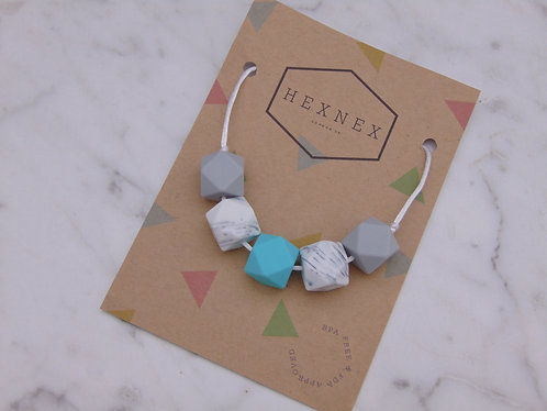 March Birthstone Aquamarine Teething Necklace