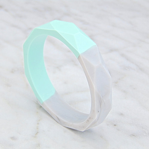 Mint & Grey Marle Two Tone Teething Bangle