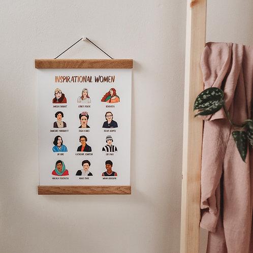 Inspiring Women A4 Foiled Print