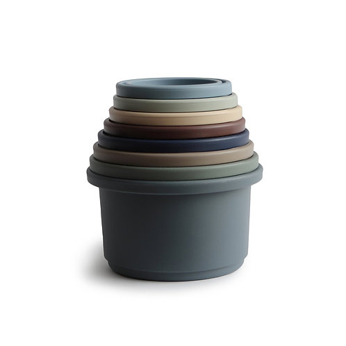 Danish Hygge Stacking Cups - Woodland Green
