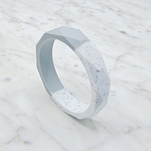 Grey and Granite Two Tone Teething Bangle