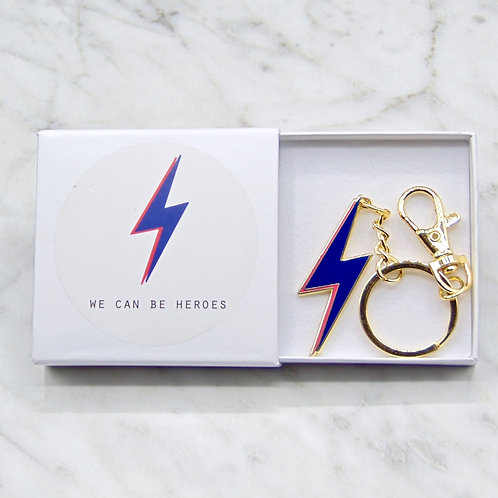 We Can Be Heroes Keychain - Blue