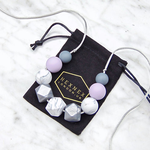 Silver Moon Rock Teething Necklace