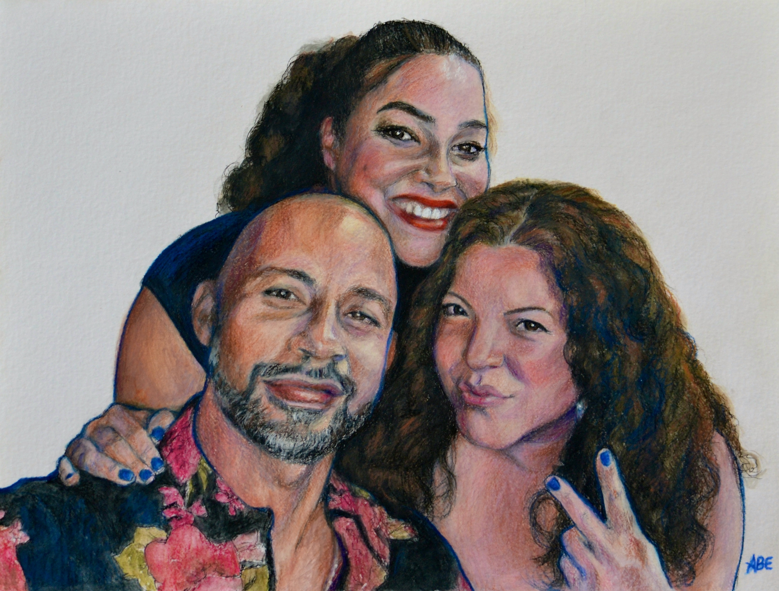 Ari and Friends commissioned portrait